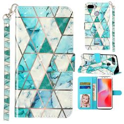 Stitching Marble 3D Leather Phone Holster Wallet Case for Mi Xiaomi Redmi 6
