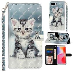 Kitten Cat 3D Leather Phone Holster Wallet Case for Mi Xiaomi Redmi 6