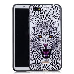 Snow Leopard 3D Embossed Relief Black Soft Back Cover for Mi Xiaomi Redmi 6A