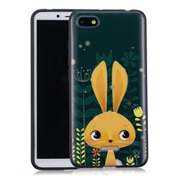 Cute Rabbit 3D Embossed Relief Black Soft Back Cover for Mi Xiaomi Redmi 6A
