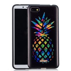 Colorful Pineapple 3D Embossed Relief Black Soft Back Cover for Mi Xiaomi Redmi 6A