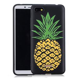 Big Pineapple 3D Embossed Relief Black Soft Back Cover for Mi Xiaomi Redmi 6A