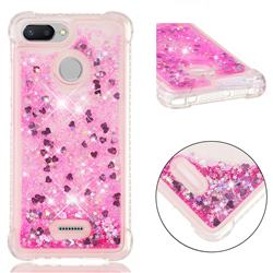Dynamic Liquid Glitter Sand Quicksand TPU Case for Mi Xiaomi Redmi 6A - Pink Love Heart