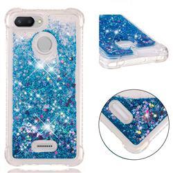 Dynamic Liquid Glitter Sand Quicksand TPU Case for Mi Xiaomi Redmi 6A - Blue Love Heart