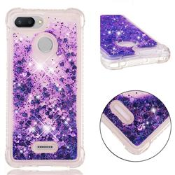 Dynamic Liquid Glitter Sand Quicksand Star TPU Case for Mi Xiaomi Redmi 6A - Purple
