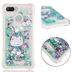 Tiny Unicorn Dynamic Liquid Glitter Sand Quicksand Star TPU Case for Mi Xiaomi Redmi 6A