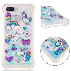 Fashion Unicorn Dynamic Liquid Glitter Sand Quicksand Star TPU Case for Mi Xiaomi Redmi 6A