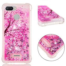 Pink Cherry Blossom Dynamic Liquid Glitter Sand Quicksand Star TPU Case for Mi Xiaomi Redmi 6A