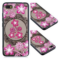Daffodil Lace Diamond Flower Soft TPU Back Cover for Mi Xiaomi Redmi 6A