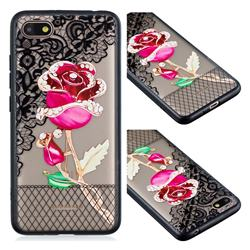Rose Lace Diamond Flower Soft TPU Back Cover for Mi Xiaomi Redmi 6A
