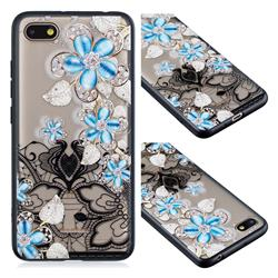 Lilac Lace Diamond Flower Soft TPU Back Cover for Mi Xiaomi Redmi 6A