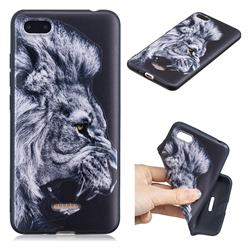 Lion 3D Embossed Relief Black TPU Cell Phone Back Cover for Mi Xiaomi Redmi 6A
