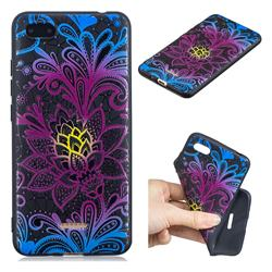 Colorful Lace 3D Embossed Relief Black TPU Cell Phone Back Cover for Mi Xiaomi Redmi 6A