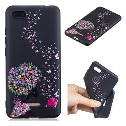 Corolla Girl 3D Embossed Relief Black TPU Cell Phone Back Cover for Mi Xiaomi Redmi 6A