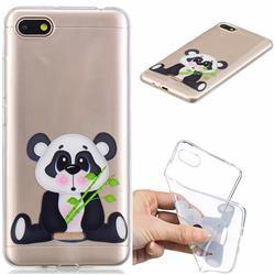 Bamboo Panda Clear Varnish Soft Phone Back Cover for Mi Xiaomi Redmi 6A