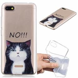 Cat Say No Clear Varnish Soft Phone Back Cover for Mi Xiaomi Redmi 6A