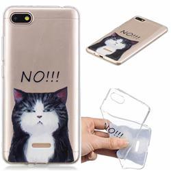 No Cat Clear Varnish Soft Phone Back Cover for Mi Xiaomi Redmi 6A