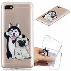 Selfie Dog Clear Varnish Soft Phone Back Cover for Mi Xiaomi Redmi 6A