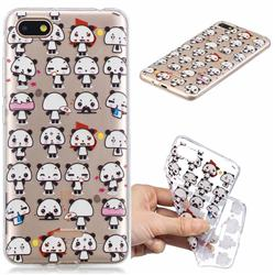 Mini Panda Clear Varnish Soft Phone Back Cover for Mi Xiaomi Redmi 6A