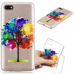 Oil Painting Tree Clear Varnish Soft Phone Back Cover for Mi Xiaomi Redmi 6A