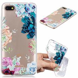 Gem Flower Clear Varnish Soft Phone Back Cover for Mi Xiaomi Redmi 6A