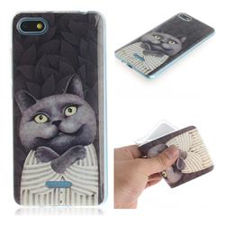 Cat Embrace IMD Soft TPU Cell Phone Back Cover for Mi Xiaomi Redmi 6A