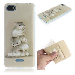 Three Squirrels IMD Soft TPU Cell Phone Back Cover for Mi Xiaomi Redmi 6A