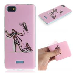 Butterfly High Heels IMD Soft TPU Cell Phone Back Cover for Mi Xiaomi Redmi 6A