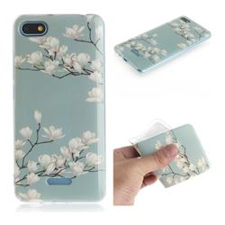 Magnolia Flower IMD Soft TPU Cell Phone Back Cover for Mi Xiaomi Redmi 6A