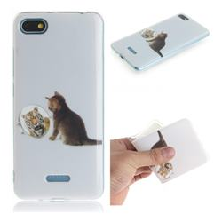 Cat and Tiger IMD Soft TPU Cell Phone Back Cover for Mi Xiaomi Redmi 6A