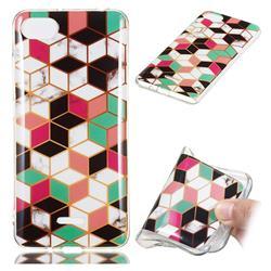 Three-dimensional Square Soft TPU Marble Pattern Phone Case for Mi Xiaomi Redmi 6A