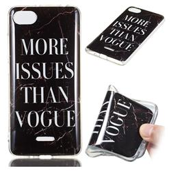 Stylish Black Soft TPU Marble Pattern Phone Case for Mi Xiaomi Redmi 6A