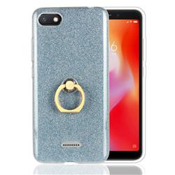 Luxury Soft TPU Glitter Back Ring Cover with 360 Rotate Finger Holder Buckle for Mi Xiaomi Redmi 6A - Blue