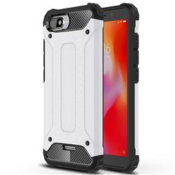 King Kong Armor Premium Shockproof Dual Layer Rugged Hard Cover for Mi Xiaomi Redmi 6A - White