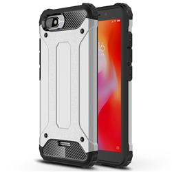 King Kong Armor Premium Shockproof Dual Layer Rugged Hard Cover for Mi Xiaomi Redmi 6A - Technology Silver