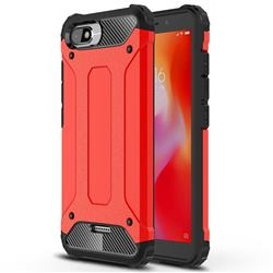 King Kong Armor Premium Shockproof Dual Layer Rugged Hard Cover for Mi Xiaomi Redmi 6A - Big Red