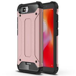 King Kong Armor Premium Shockproof Dual Layer Rugged Hard Cover for Mi Xiaomi Redmi 6A - Rose Gold