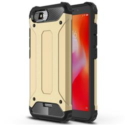 King Kong Armor Premium Shockproof Dual Layer Rugged Hard Cover for Mi Xiaomi Redmi 6A - Champagne Gold