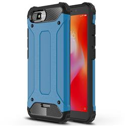 King Kong Armor Premium Shockproof Dual Layer Rugged Hard Cover for Mi Xiaomi Redmi 6A - Sky Blue