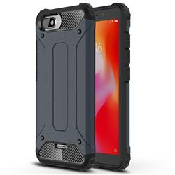 King Kong Armor Premium Shockproof Dual Layer Rugged Hard Cover for Mi Xiaomi Redmi 6A - Navy