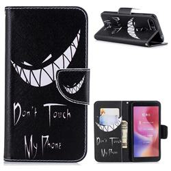 Crooked Grin Leather Wallet Case for Mi Xiaomi Redmi 6A
