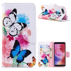 Vivid Flying Butterflies Leather Wallet Case for Mi Xiaomi Redmi 6A