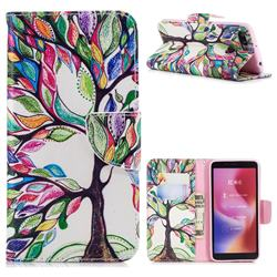 The Tree of Life Leather Wallet Case for Mi Xiaomi Redmi 6A