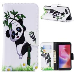 Bamboo Panda Leather Wallet Case for Mi Xiaomi Redmi 6A