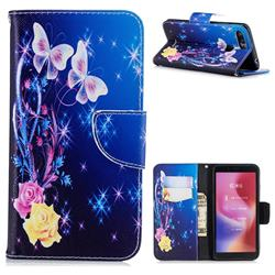 Yellow Flower Butterfly Leather Wallet Case for Mi Xiaomi Redmi 6A