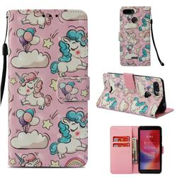 Angel Pony 3D Painted Leather Wallet Case for Mi Xiaomi Redmi 6A