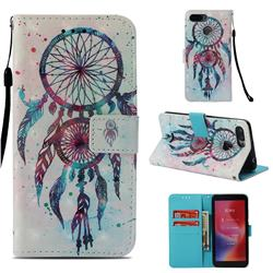 ColorDrops Wind Chimes 3D Painted Leather Wallet Case for Mi Xiaomi Redmi 6A