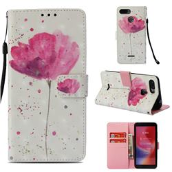 Watercolor 3D Painted Leather Wallet Case for Mi Xiaomi Redmi 6A