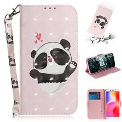Heart Cat 3D Painted Leather Wallet Phone Case for Mi Xiaomi Redmi 6A