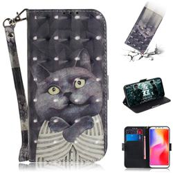 Cat Embrace 3D Painted Leather Wallet Phone Case for Mi Xiaomi Redmi 6A